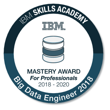 Big Data Engineer - Mastery Award for Professionals 2018